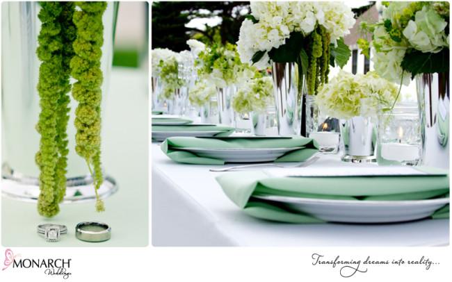 San Diego intimate shabby chic mint green beach park wedding | San ...