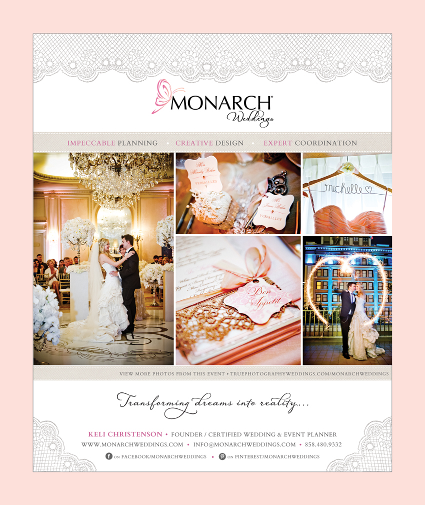 Monarch Weddings Full Page Ad In Ceremony Magazine