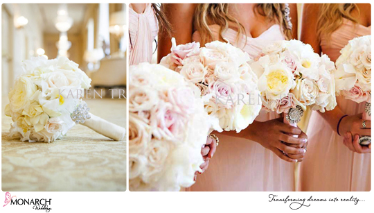 Bridal-bouquet-blush-bridesmaids-bouquets-westgate-hotel