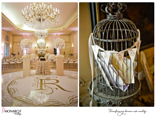 Blush-french-vintage-westgate-hotel-wedding-birdcage-card-holder