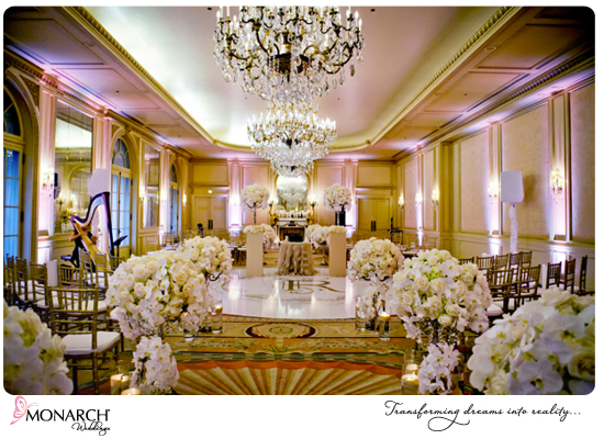 Orchids-crystal-chandelier-french-vintage-wedding-versailles-ballroom-westgate-hotel