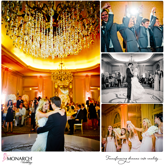 First-dance-under-crystal-chandelier-westgate-hotel