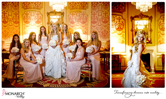 Blush-vintage-wedding-brides-and-bridemaids-photos-westgate-hotel