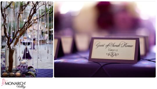 Manzanita-tree-with-crystals-purple-place-card-Prado-wedding