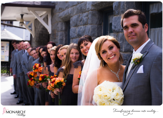 Orange and Gray Wedding at Admiral Kidd by Monarch Weddings | San ...
