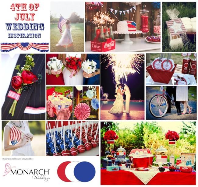 4th Of July Wedding Inspiration By Monarch Weddings