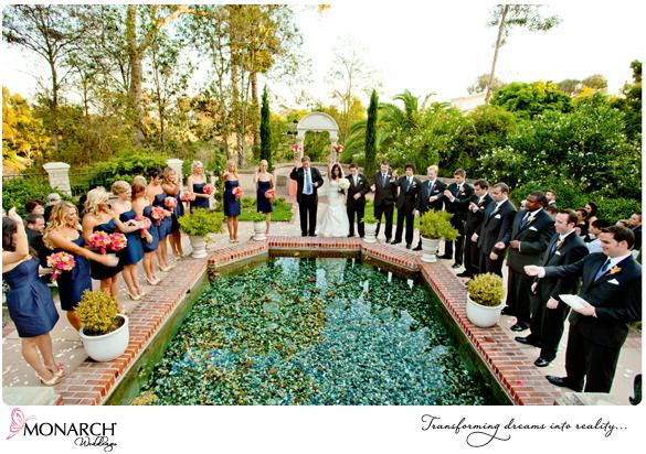 Prado Balboa Park Tropical Wedding Ceremony Bridal Party