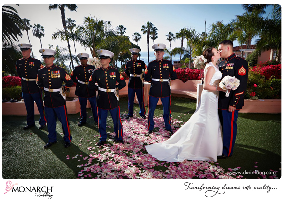 La-Valencia-Hotel-Garden-Ceremony-Military-Wedding