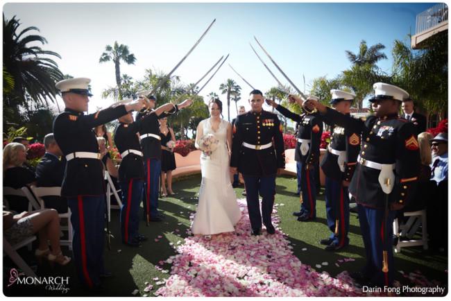Military-sword-arch-at-ceremony-la-valencia-hotel-wedding
