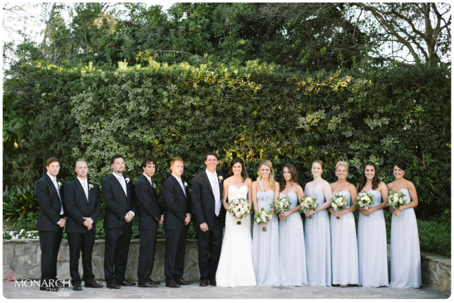 Garden-Chic-Rustic-Wedding-Bridal-Party-Powder-blue-bridesmaids-dresses
