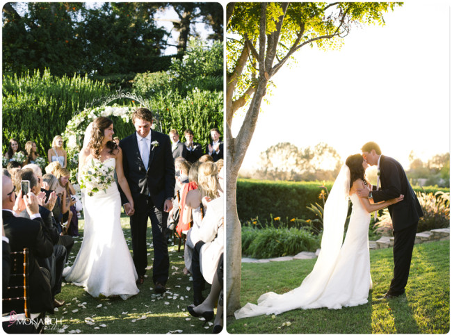 Garden-Chic-Rustic-Wedding-Ceremony-Kiss
