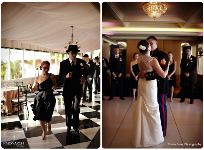Blush-black-white-wedding-at-La-Valencia-Grand-Entrance-First-Dance