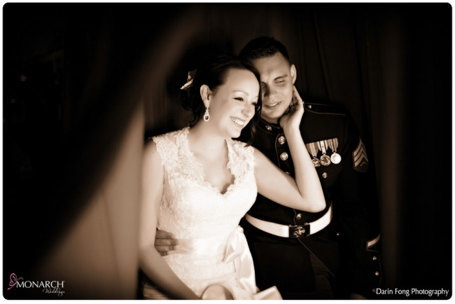 Blush-black-white-wedding-at-La-Valencia-Photo-booth-bride-and-groom