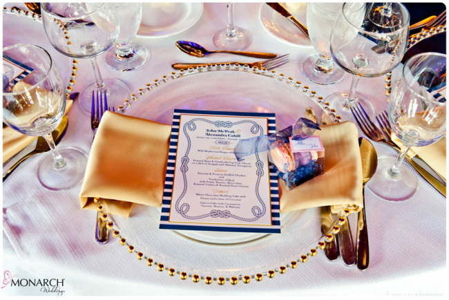Gold-Napkin-gold-beaded-charger-plate-Nautical-theme-wedding-hotel-del-coronado
