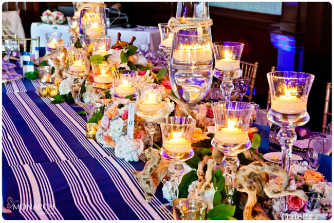 Head-table-Nautical-knot-table-sign-holder-Nautical-theme-wedding-hotel-del-coronado