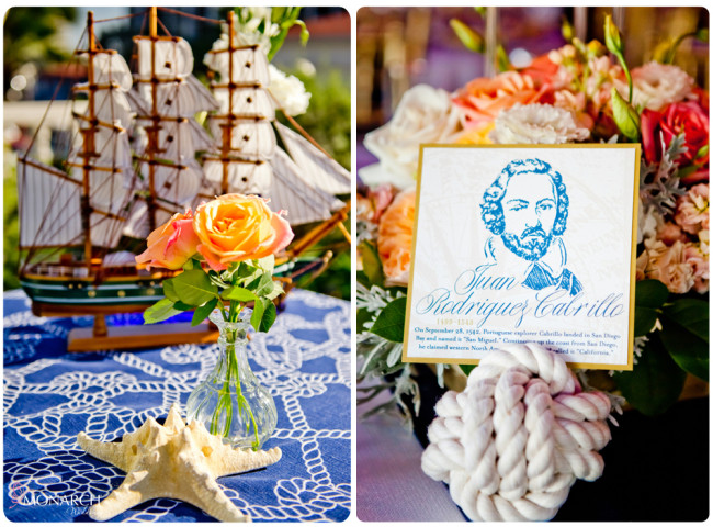 Nautical-knot-table-sign-holder-Nautical-theme-wedding-hotel-del-coronado