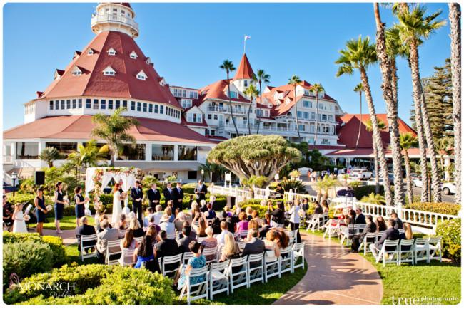 vintage nautical wedding hotel del ceremony arbor