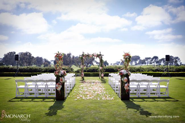 Lodge At Torrey Pines Wedding Blush Rustic Ceremony