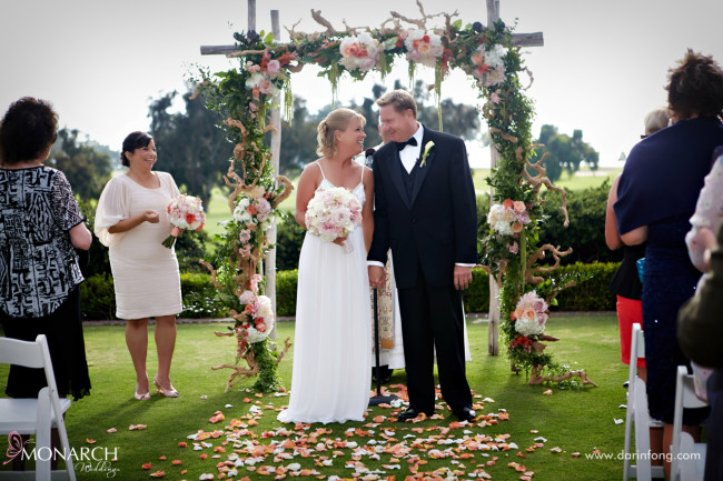 Lodge-at-Torrey-pines-wedding-blush-rustic-ceremony-arbor