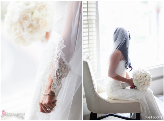Lace-bridal-veil-ivory-bridal-bouquet-hotel-del-coronado-wedding