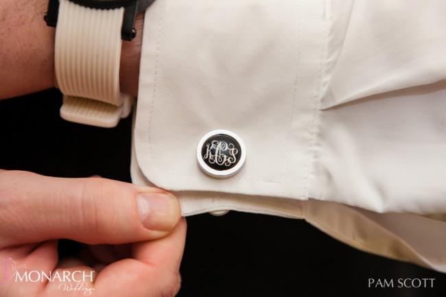 custom-monogram-cuff-link-groomsmen-gift-hotel-del-coronado-wedding
