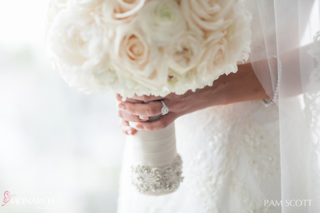 stunning-bridal-bouquet-with-crystal-band-wrap-hotel-del-coronado-wedding