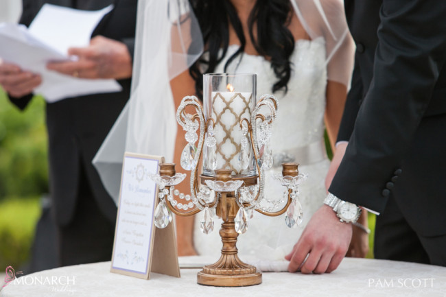 Lighting-of-Memorial-Candle-during-ceremony-hotel-del-coronado-wedding