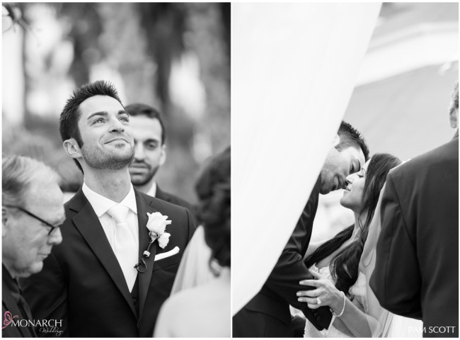 Groom-priceless-expression-ceremony-hotel-del-coronado-wedding