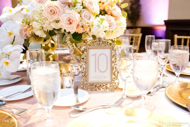 Prado-at-Balboa-Park-Gatsby-wedding-blush-gold-wedding-gold-table-number