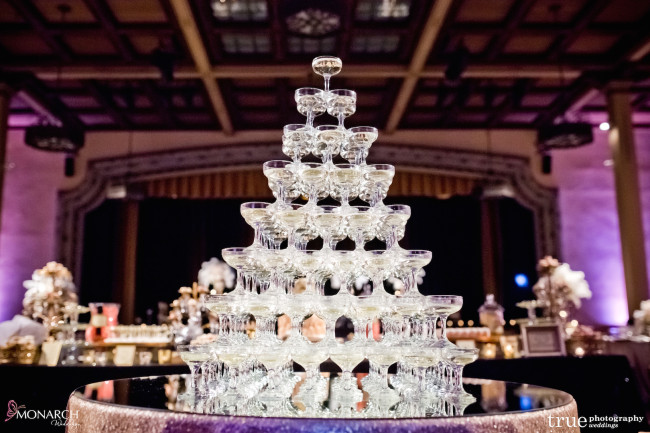 Prado-at-balboa-park-wedding-champagne-tower