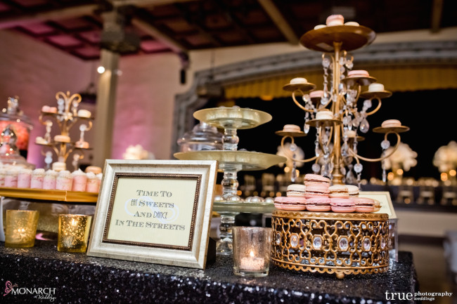 Gatsby-Prado-at-balboa-park-wedding-black-sequin-linen-dessert-station