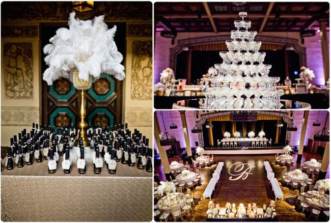 Gatsby Reception Collage