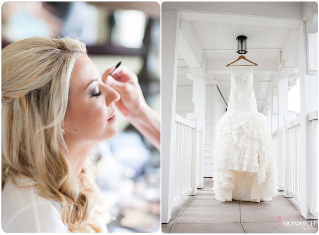 Bride-makeup-stylish-wedding-dress-Hotel-del-coronado-wedding