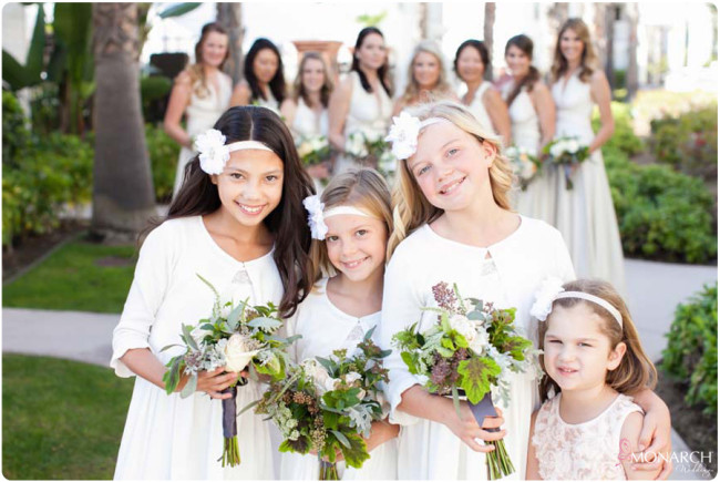 Flowergirls-bridemaids-ivory-dresses-hotel-del-wedding