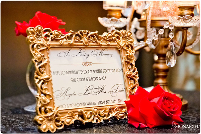 Memorial-sign-gatsby-wedding-black-sequin-linen-red-roses